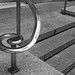The curved hand rail