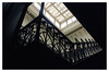HAL Building, Rotterdam 1991 (jmvanelk) Tags: rotterdam hal kopvanzuid abandoned hotelnewyork urbex nikonfe nikkor24mm stairs staircase dark glass roof empty hollandamerikalijn