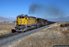 Wild Power Lash Up (jamesbelmont) Tags: ge u30c emd sd45 unionpacific drgw riogrande coal payson utah provosubdivision rural agriculture