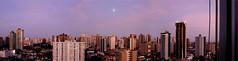 Panoramica Madrugada Belém/PA/Brasil (Ricardo_ Lima) Tags: panorama belém panoramic view city skyline cityscape morning moon pink aurora buildings