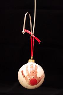 Reindeer Handprint Bauble (49/52)