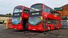 Arriva YJ55WOD YJ55WOU Enfield bus garage 8th November 2017 (BristolRE2007) Tags: arriva arrivalondonnorth london londonbus enfield bus enfieldbusgarage