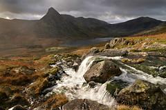 The Dark side of Tryfan (PentlandPirate of the North) Tags: tryfan snowdonia llynogwen mountain waterfall ~flickrinnes flickrinnes