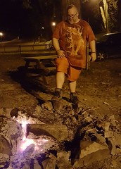 8/20/17 - Cave-In-Rock, IL - camping (CubMelodic23) Tags: august 2017 caveinrockil vacation me dave selfportrait caveinrockstatepark campground camping fire