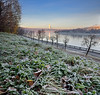 Dawn at Moscow River (Аlhemund) Tags: pan panorama vertorama quadrorama quadro dawn moscow russia river moscowriver иней frost morning nofilters nofilter nikon d7000 16mm панорама москва рассвет россия утро верторама стекинг stacking stack snowy grip crop