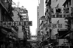 Signs (superzookeeper) Tags: 5dmk4 5dmkiv hk hongkong canoneos5dmarkiv ef2470mmf28liiusm eos digital mongkok mk street sign blackandwhite bnw monochrome