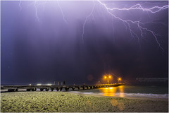 Lightning over Woodman Point Jetty (beninfreo) Tags: lightning storm thunder bolt cg cloud cloudtoground cloudtocloud woodmanpoint jetty ammojetty fremantle westernaustralia australia canon canon5d3 1740mml 1740mm 2017 perth
