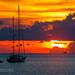 Sunset with yacht, Phuket island, Thailand