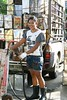 giantess working behind the market (the foreign photographer - ฝรั่งถ่) Tags: giantess big young woman working cooking oil cans yingcharoen market bangkhen bangkok thailand canon