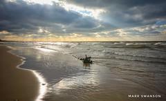 Driftwood (mswan777) Tags: driftwood beach shore coast sunset sky cloud evening seascape sand scenic outdoor nature light sunburst horizon nikon d5100 stevensville michigan sigma 1020mm