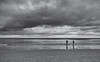 Time for a photo (DaneGardner) Tags: blackandwhite clouds cloudsstormssunsetssunrises dorset poole sandbanks beach