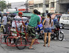 Arrived (Beegee49) Tags: street filipina alighting family pedicab transport bacolod city philippines