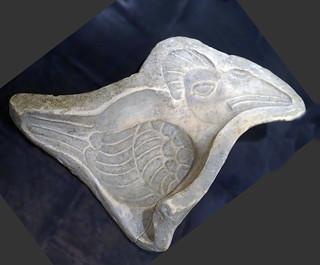 molde de ave ceramica Maya exposicion antiguo Colegio Compañia de Jesus Antigua Guatemala 13