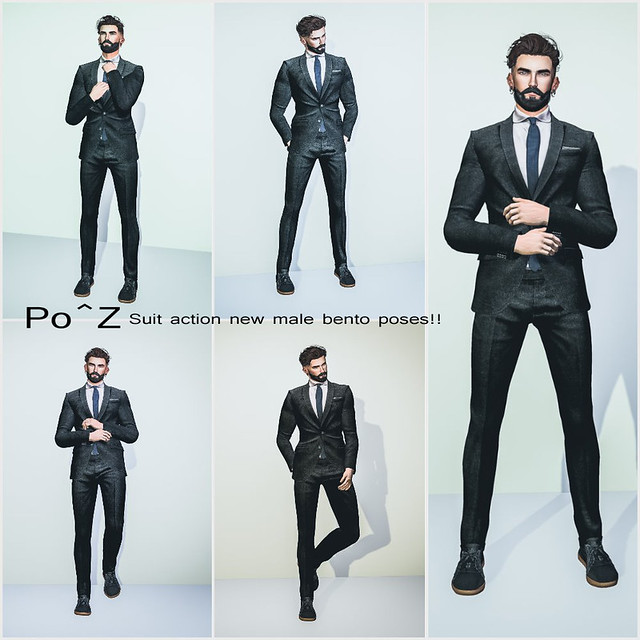 Po^Z New Release - 5 New male poses ( suit action )
