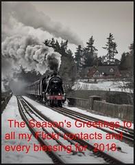 Christmas 2017. (peterdouglas1) Tags: 8f stanier chirk viaducts snowscenes railways crossingthe border smoke