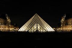 like a diamond (~Laurence~) Tags: paris louvre pyramide chateau musée france architecture canon 70d night nuit