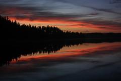 IMG_4355-1 (Andre56154) Tags: schweden sweden sverige see lake wasser water himmel sky wolke cloud spiegelung reflexion reflection abendrot afterglow abend evening sonnenuntergang sunset dämmerung dawn landschaft landscape wald forest