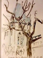 Strasbour avenue de la Marseillaise  11 - 11 - 2017 (messerchristophe) Tags: strasbourg avenue de la marseillaise croquis urbain urban sketching café michel