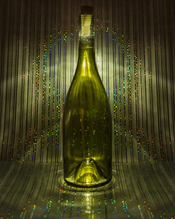 one green bottle...