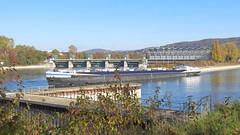 Kraftwerk Birsfelden, 1.11.17 (ritsch48) Tags: birsfelden basellandschaft kraftwerk tankschiff tanker rhein