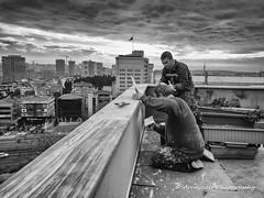 Painter 2 (`ARroWCoLT) Tags: streetphotography sokak people blackwhite bw art insan human arrowcolt monochrome bnwdemand bnwpeople bnw bnwstreet ishootpeople blackandwhite outdoor portrait streetportrait nxmini 927mm istanbul turkey türkiye painter boyacı sky cityscape urban perspective