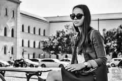 MUNICH Portraits, part 3: Julia (mkarwowski) Tags: street girl woman streetportrait munich travel industar502 m42 bokeh monochrome blackandwhite canon eos 80d canoneos80d eos80d portrait