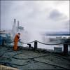 Hard Workers - Fuji Provia 100F (magnus.joensson) Tags: sweden ångermanland örnsköldsvik october street rolleiflex fuji provia 100f exp 6x6 e6 epson v800 scan