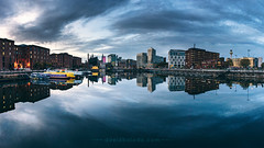 """One pool... two Liverpools"" (David Balado Fotografía) Tags: liverpool reflection water dusk sunset atardecer cityscape landscape paisaje england uk united kingdom"