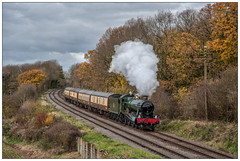 6990 by AlanP - 6990 'Witherslack Hall' heads through Kinchley Lane with the 'South Yorkshireman' GCR, 18.11.17.