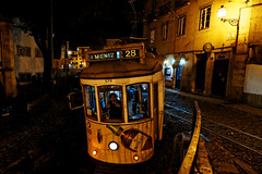 evening with trams (ignacy50.pl) Tags: tram touristic famous lisbon portugal nightlights night travel transportation alfama reportage citylife cityview