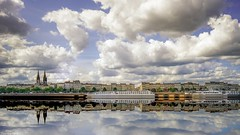 Reflets -  4179 (YᗩSᗰIᘉᗴ HᗴᘉS +10 000 000 thx❀) Tags: bordeaux france fr eu aquitaine garonne gironde clouds cloudy water waterscape landscape architecture sky nuage cloud reflexion reflets réflection reflection reflet hensyasmine yasminehens