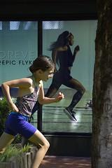 Run (swong95765) Tags: kid girl sidewalk cute ad run running street
