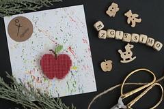 apple (ezgissimo) Tags: apple crossstitch ezgissimo handmade design cra craft