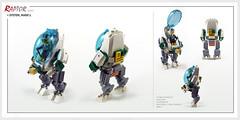 Raptor series: System, MK1 (Brixnspace) Tags: raptor walker frame powersuit suit lego moc toy biped space bot system mk1 parakeet