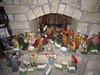Antique Nativity Set, Catholic (shawnmkell) Tags: christmas german holiday decoration vintage old restored church statue catholic home log cabin decorating idea pallet creche holy family jesus mary joseph shepherd angel wise men sheep john baptist