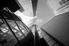 Look up (dansshots) Tags: nyc newyorkcity skyscraper lookup lookingup bnw blackandwhite blackandwhitephotography blackandwhitephoto blackandwhitenewyorkcity dansshots nikon nikond750 rokinon