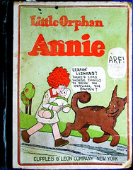 Little Orphan Annie and Sandy 1926 reprint book 3365 (Brechtbug) Tags: little orphan annie sandy vintage reprint book 1925 newspaper comic strips news paper sunday funnies daily comics funny humor satire harold gray character syndicate published 1926 cover art antique old color tinted cupples leon company new york publishers