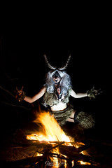 KRAMPUS sHOOT (TheGhostVaporVision) Tags: krampus krampusnacht model modeling cosplay costume demon devil monster sexy beauty posint otdoot fire horns skull firepainting artist art photography photographer ghostvaporphotography conceptual glow