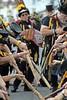 Sidmouth Folk Festival, Sidmouth, Devon - Aug 2017 (Dis da fi we (was Hickatee)) Tags: sidmouth folk festival devon hat duck yellow black stick flower dance morris men badge badges feather feathers