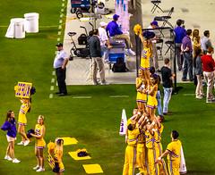 LSU cheerleaders (Redbird310) Tags: sec football sports college alabama ncaa