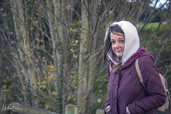 Someone is Cold!!! (mattpacker1978) Tags: cold walk person people watching girl women woods winter wife jacket trees canon canon700d canondigital canonphotography 24105 dslr backpack outdoors addictedtowalking hair portrait tree forest