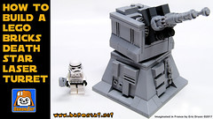 DEATH STAR LASER TURRET (baronsat) Tags: star wars death laser turret moc custom model instructions building free gift