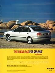 1999 Volvo S40 Sedan Page 2 Aussie Original Magazine Advertisement (Aussie Car Adverts) Tags: 1 4 9 19 1999 99 s s40 v volvo sedan vehicle car cars