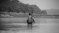 Canoe Guide (#Weybridge Photographer) Tags: canon slr dslr eos 5d mk ii nepal kathmandu asia mkii chitwan national park canoe safari guide river