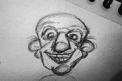 Crazy old dude... (Ocin Ceco) Tags: draw face funny guy paper pencil sketch old