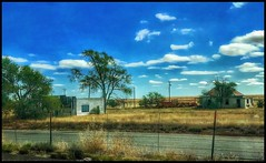 The Mother Road and beyond.... (Sherrianne100) Tags: desolate rural happyfencefriday fence dilapidated motherroad route66 newmexico