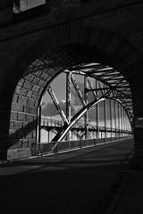 contrasts (liebeslakritze) Tags: contrasts steel stone bridge bw blackwhite schwarzweis stahl steine brücke sw kontraste