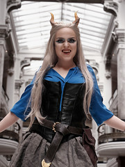 Ice Demoness 2 (greyloch) Tags: dccosplays costume photoshop 2017 canonrebelt6s niksoftware monsters pretty friend smithsonian nationalportraitgallery
