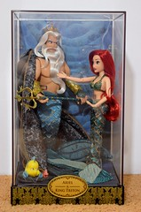 2017 Disney Designer Doll Collection - Pre-Ordered Set - Ariel and King Triton - Boxed - Slipcover Off - Front View (drj1828) Tags: 2017 disney disneydesignercollection preorder fullset kingtriton ariel boxed thelittlemermaid