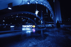 (A Great Capture) Tags: agreatcapture agc wwwagreatcapturecom adjm ash2276 ashleylduffus ald mobilejay jamesmitchell toronto on ontario canada canadian photographer northamerica torontoexplore fall autumn automne herbst autunno 2017 efs1018mm 10mm wideanglecity downtown lights urban night dark nighttime cold snow weather colours colourful colorful cityscape urbanscape eos digital dslr lens canon rebel t5i reflection mirror glass outdoor outdoors bright blue architecture architektur arquitectura design streetphotography streetscape street calle square nathan phillip sign star stars city hall ice icy tree christmas buildings